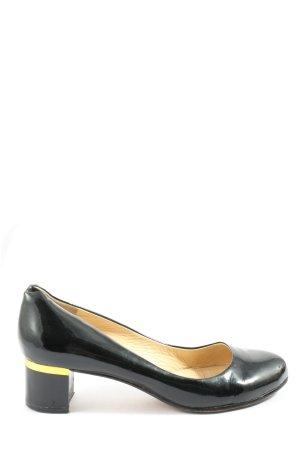 Signature Buty z zabudowanym przodem czarny-bladożółty W stylu casual