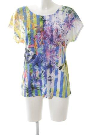 Signature T-Shirt abstraktes Muster Casual-Look