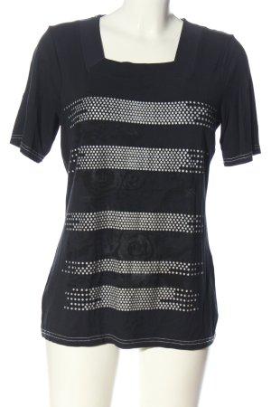 Signature T-Shirt blau-weiß Punktemuster Casual-Look