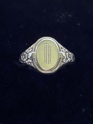 Signet Ring Siegelring Signetring Buchstabe H  835 Silber VINTAGE