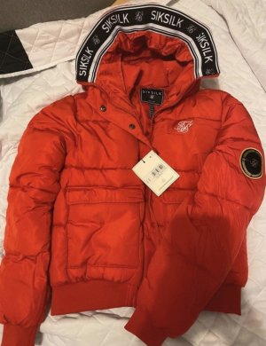 Sik Silk Giacca bomber rosso scuro