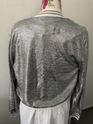 Blouson silver-colored