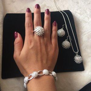 Parure bijoux argenté