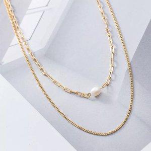 Silber 925 doppel halskette gold neu