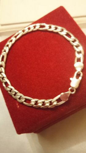 Silber 925 Figaro Armband Armkette