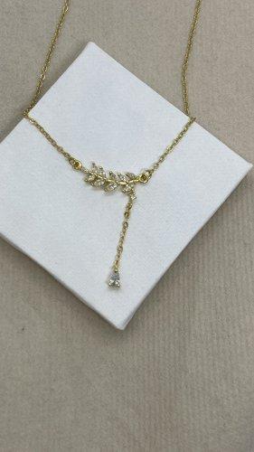 Silber 925 Halskette gold neu