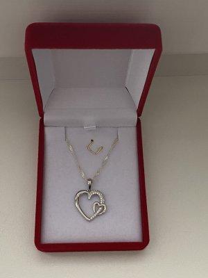 Silber 925 Halskette Mit Anhänger Neu mit Verpackung