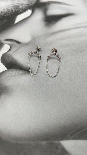 echt Silber 925 Clou d'oreille argenté