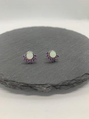 Silber 925 opal ohrstecker neu