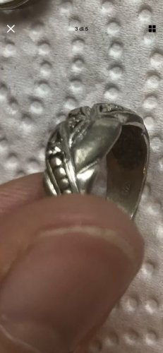 Silber 925 ring gr 16/54 neuwertig