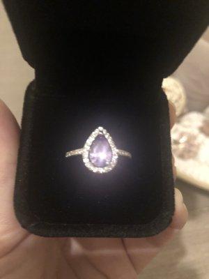 Anello d'argento argento-blu-viola