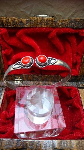 Bracelet en argent argenté-rouge