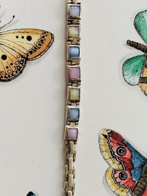 Bracelet en argent multicolore