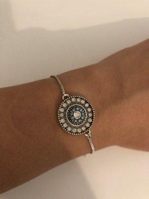Bijou Brigitte Zilveren armband zilver-babyblauw