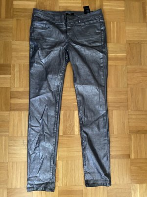 Sir Oliver Five-Pocket Trousers silver-colored