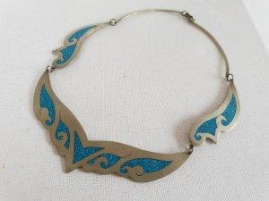Silber Blaue Kette Halsschmuck Halskette Schmuck