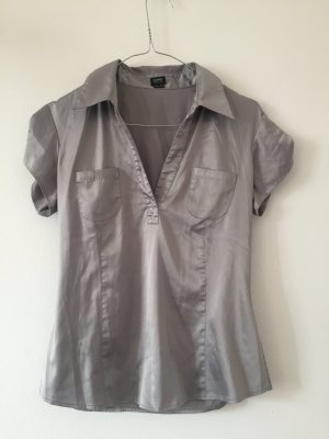 Silber Bluse Party Shiny Gr.38 Esprit