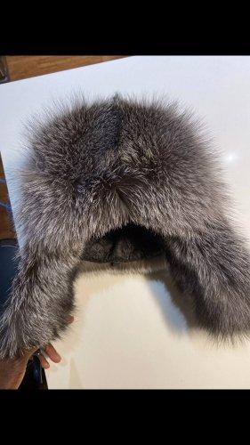 Silber  Fuchs mütze