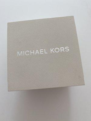 Michael Kors Horloge met lederen riempje grijs