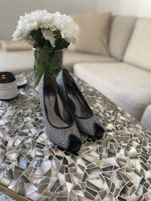 Silber Glitter Peeptoe Heels