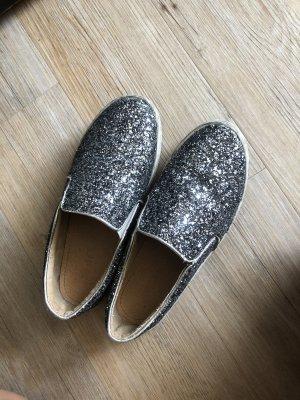 Silber Glitzer Plateauschuh Schuh