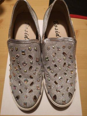 Silber Glitzer Schuhe