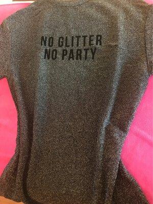 Zara Lang shirt zilver Acryl