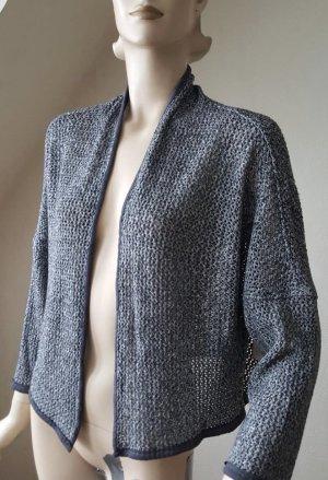 Silber grau Strickjacke von Brigitte Büge Größe 40