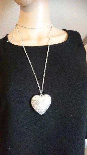 Silber Halskette Collier  mit Herz ♥ Anhänger