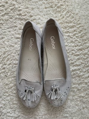Gabor Mocassins argenté-gris clair