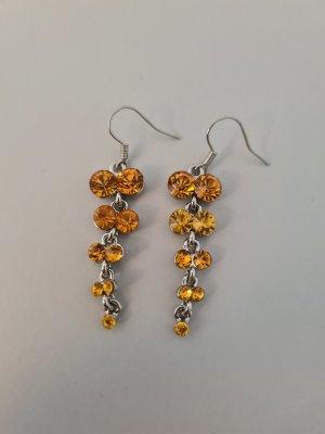 Accessoires Wiszące kolczyki srebrny-jasny pomarańczowy