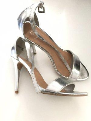 Silber high heels