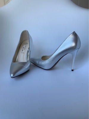 Silber high heels, New, Never worn. Heidi Klum. 39 eu