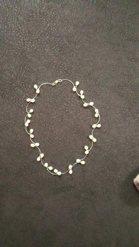 Cadena de plata blanco-color plata