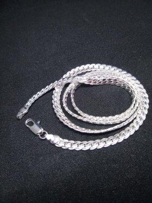 Zilveren ketting lichtgrijs