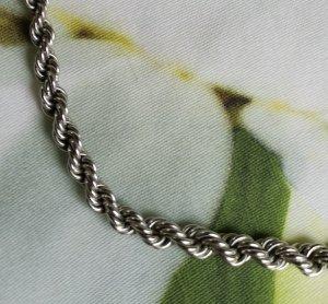 Silber Kordelkette