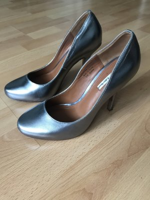 AndOtherStories Tacco alto grigio chiaro-argento Pelle