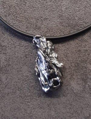 Goldschmied Cadena de plata negro-color plata