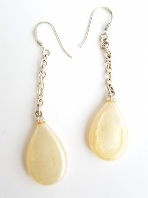 Agatha Dangle silver-colored-natural white