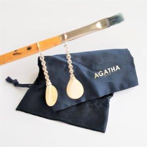 Agatha Orecchino a pendente argento-bianco sporco