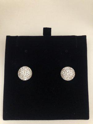 Silber Ohrringe mit Swarovski Kristallen