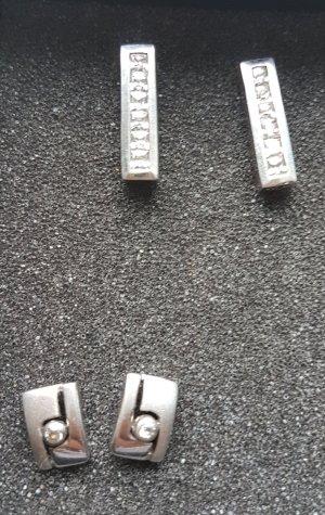 Silber Ohrringe Zirkonia besetzt