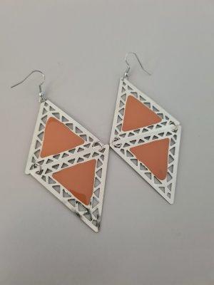 Scarlet Bijoux Statement Earrings silver-colored-orange