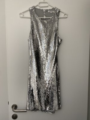GLORIOUS Sequin Dress silver-colored
