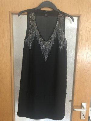 Silber Pailletten Kleid