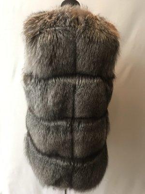 Fur vest silver-colored pelt