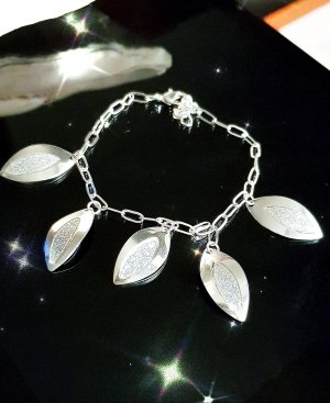 Charm Bracelet white-silver-colored