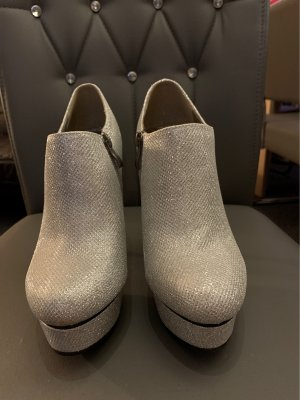Jumex Platform Booties silver-colored