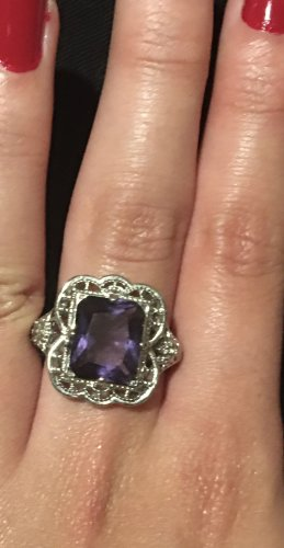 Silver Ring silver-colored-lilac