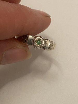 Silber ring 925 blaue stein gr 16/54